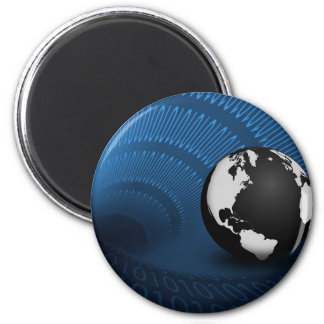 WWW Earth 2 Inch Round Magnet