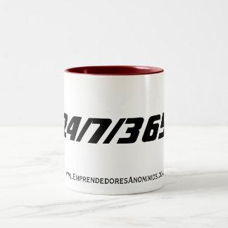 www.EmprendedoresAnonimos.com, 24/7/365 Two-Tone Coffee Mug
