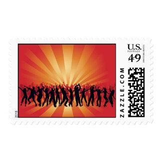 www_Garcya_us_dancing disco people vector Postage Stamp
