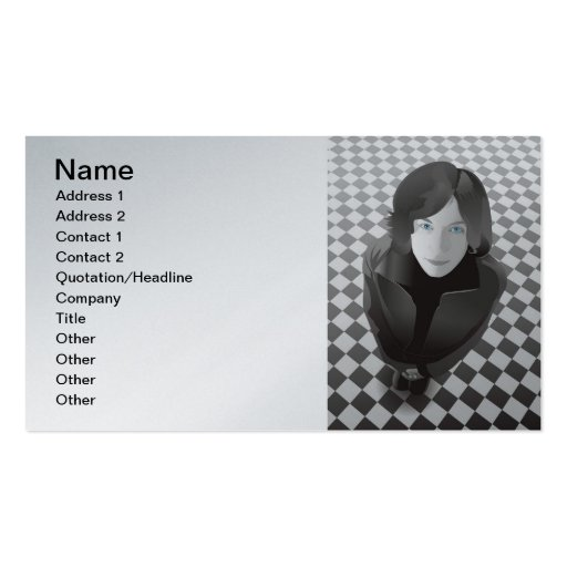 www.Garcya.us_Girls-104, Name, Address 1, Addre... Double-Sided Standard Business Cards (Pack Of 100)