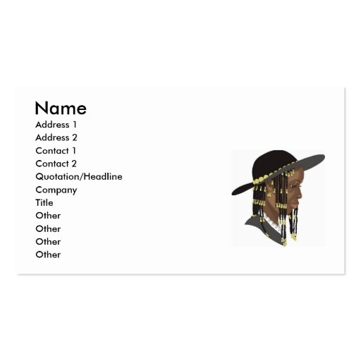 www.Garcya.us_Girls-34, Name, Address 1, Addres... Double-Sided Standard Business Cards (Pack Of 100)