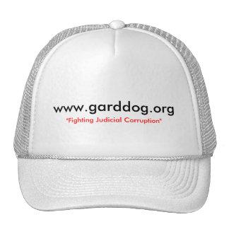 """www.garddog.org, """"corrupción judicial que lucha """" gorra"""
