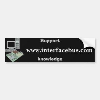 www.interfacebus.com, ayuda, conocimiento pegatina para auto