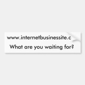 www.internetbusinessite.com, What are you waiti... Car Bumper Sticker