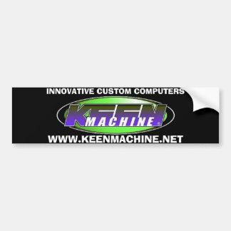 WWW.KEENMACHINE.NET Black Bumper Sticker 2 Car Bumper Sticker