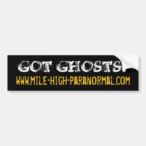 www.mile-high-paranormal.com, GOT GHOSTS? Car Bumper Sticker