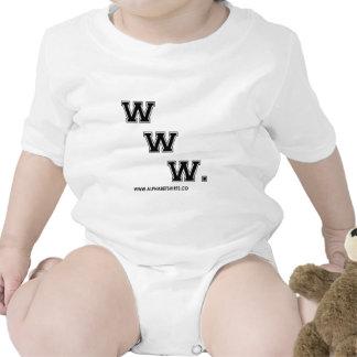 WWW negro Traje De Bebé