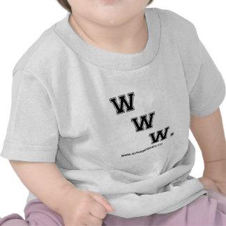 WWW negro Camiseta