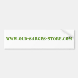 WWW.OLD-SARGES-STORE.COM CAR BUMPER STICKER