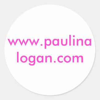 www.paulinalogan.com classic round sticker