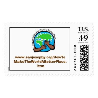 www.sanjosepby.org/HowToMakeTheWorldABetterPlac.. Sello Postal