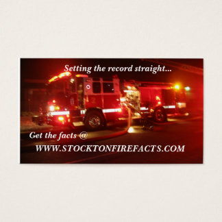 WWW.STOCKTONFIREFACTS.COM BUSINESS CARD