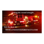 WWW.STOCKTONFIREFACTS.COM BUSINESS CARD TEMPLATES