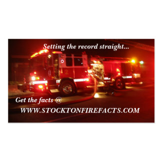 WWW.STOCKTONFIREFACTS.COM Double-Sided STANDARD BUSINESS CARDS (Pack OF 100)
