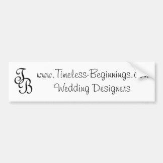 www.Timeless-Beginnings.com que casa a diseñadores Pegatina De Parachoque