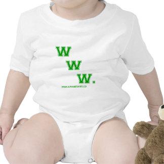 WWW verde Traje De Bebé