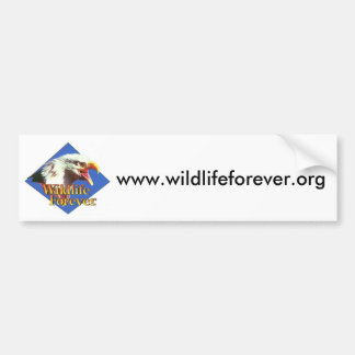 www.wildlifeforever.org etiqueta de parachoque