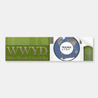 WWYD - Green Supreme Bumper Sticker
