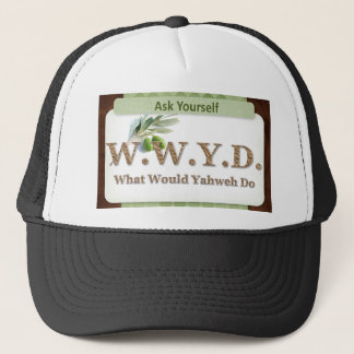WWYD - Olive Branch - Green and Brown Trucker Hat