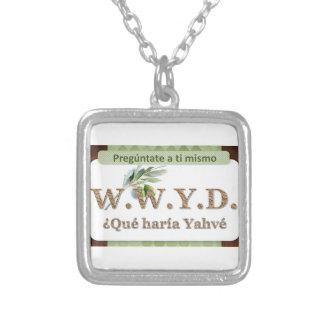 WWYD - ¿Qué haría Yahvé Silver Plated Necklace