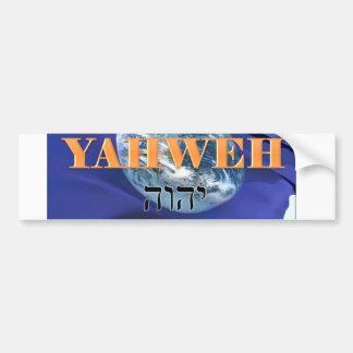 WWYD - What Would Yahweh Do Flag Bumper Sticker