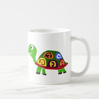 WX- arte colorido del primitivo de la tortuga Taza Clásica