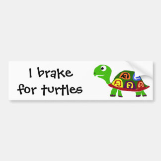 WX- Colorful Turtle Primitive Art Bumper Sticker