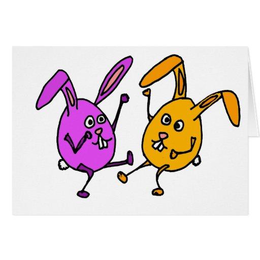 WX- dibujo animado del huevo del conejo de conejit Tarjeta De Felicitación