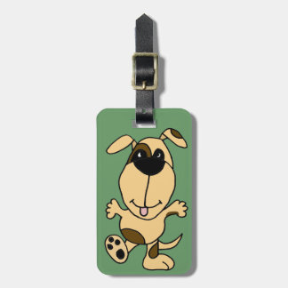 WX- dibujo animado del perro de perrito del baile Etiquetas Maleta