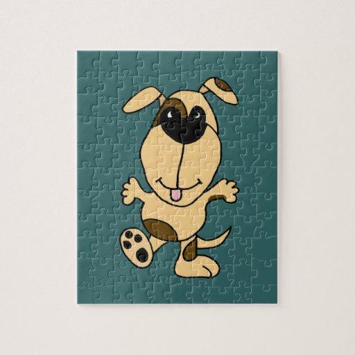 WX- dibujo animado del perro de perrito del baile Rompecabeza
