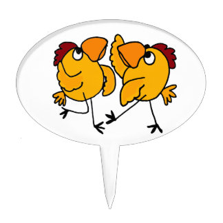WX- dibujo animado del pollo del baile Decoraciones De Tartas