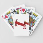 WX- Funny Dachshund Primitive Art Card Deck