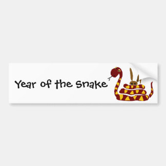 WX- Funny Snake Squeezing Rabbit Cartoon Bumper Sticker