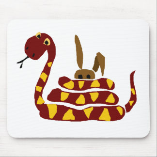WX- Funny Snake Squeezing Rabbit Cartoon Mouse Pad