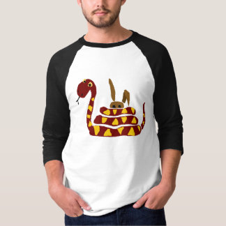 WX- Funny Snake Squeezing Rabbit Cartoon T-Shirt