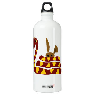 WX- Funny Snake Squeezing Rabbit Cartoon Water Bottle
