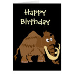 WX- Funny Woolly Mammoth Primitive Art Cards