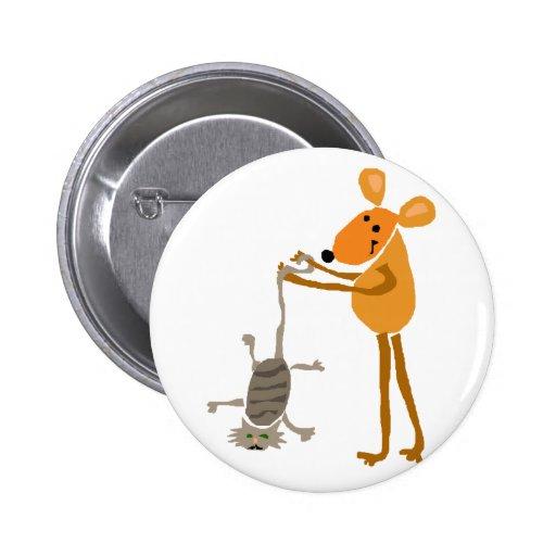 WX- ratón divertido que lleva a cabo el dibujo ani Pins