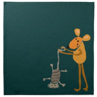 WX- ratón divertido que lleva a cabo el dibujo ani Servilleta De Papel