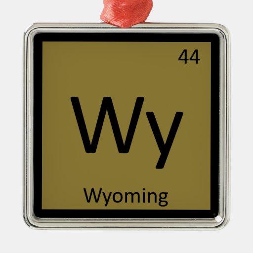 Wy - tabla periódica de la química del estado de W Ornamentos De Reyes Magos