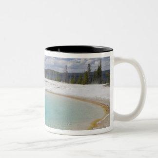 WY, Yellowstone National Park, West Thumb Geyser Two-Tone Coffee Mug