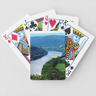 Wyalusing Pa Endless Mountains River  cards Bicycle Playing Cards