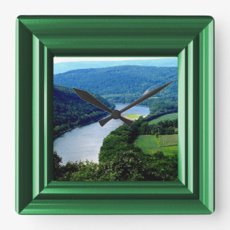 Wyalusing Pa Endless Mountains River Photo Clock