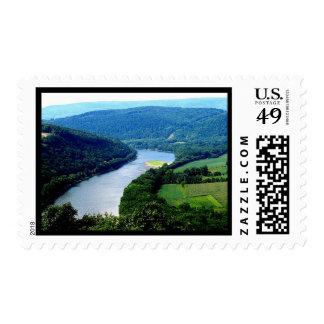 Wyalusing Pa Endless Mountains River Photo Stamp