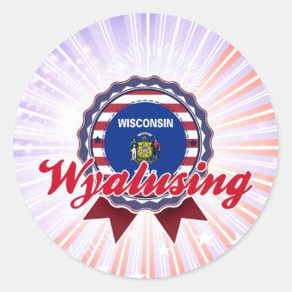 Wyalusing, WI Etiqueta Redonda