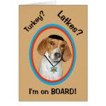 wYamaka divertido del perro de caza de la tarjeta