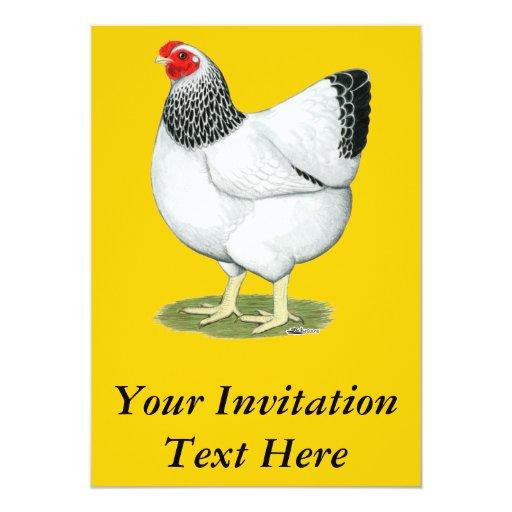 "Wyandotte:  Columbian Hen 5"" X 7"" Invitation Card"