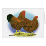 Wyandotte:  Golden-laced Pair Stationery Note Card