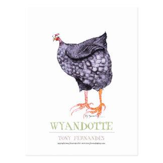 WYANDOTTE HEN, tony fernandes Postcard