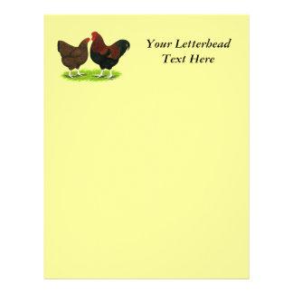 Wyandotte:  Partridge Pair Custom Letterhead